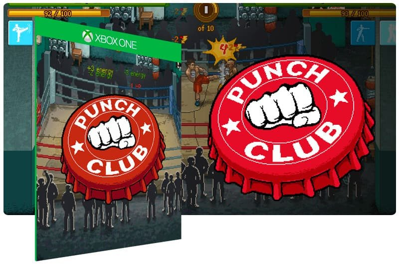 Banner do game Punch Club em mídia digital para Xbox One