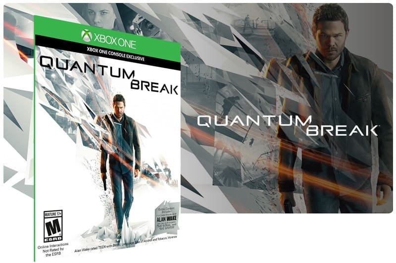 Banner do game Quantum Break em mídia digital para Xbox One