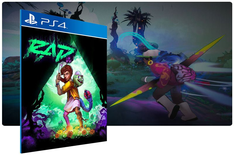 Banner do game RAD em mídia digital para PS4