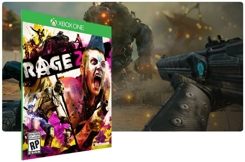 Banner do game RAGE 2 em mídia digital para Xbox One