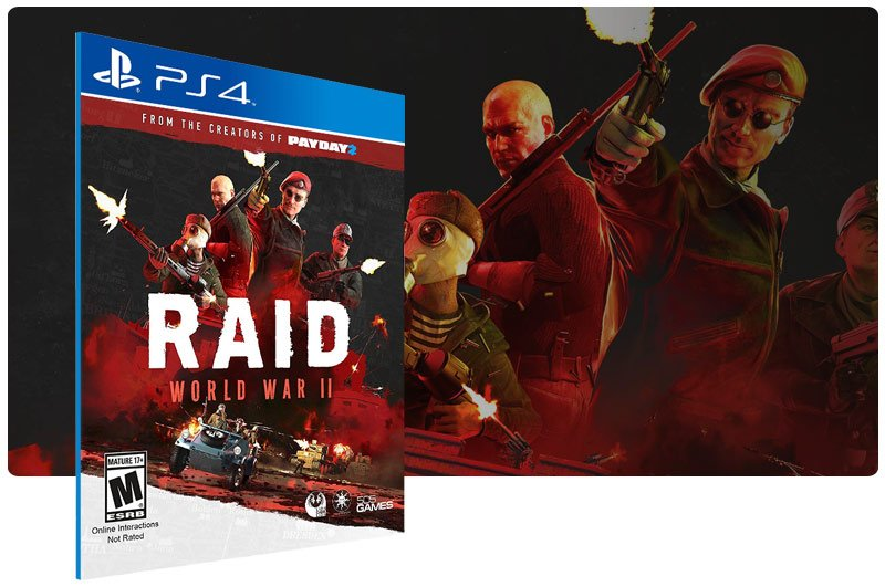 Banner do game RAID World War 2 para PS4