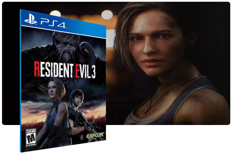 Banner do game RESIDENT EVIL 3 para PS4