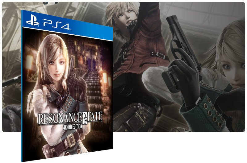 Banner do game RESONANCE OF FATE 4KHD EDITION para PS4