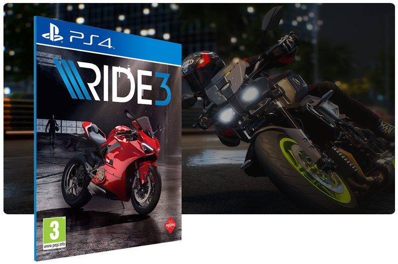 Banner do game RIDE 3 para PS4