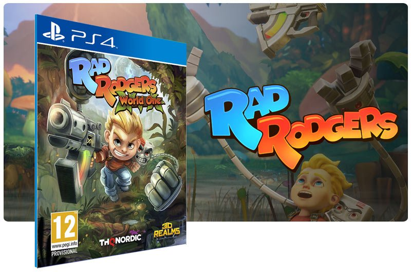 Banner do game Rad Rodgers em mídia digital para PS4