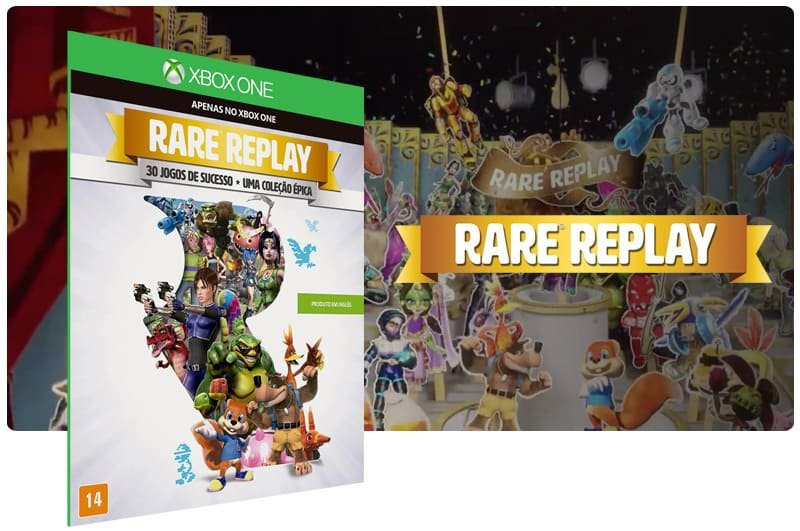 Banner do game Rare Replay em mídia digital para Xbox One