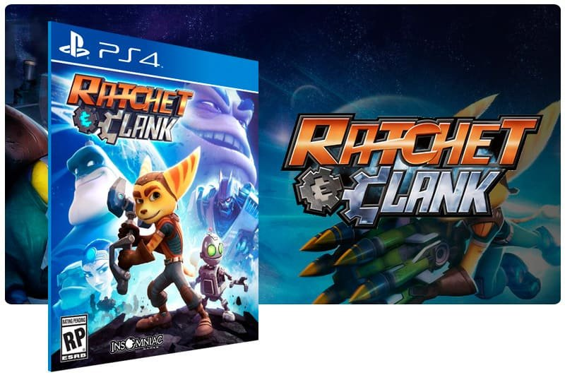 Banner do game Ratchet & Clank para PS4