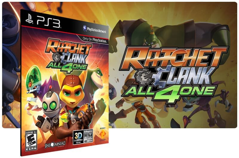 Banner do game Ratchet & Clank: All 4 One para PS3