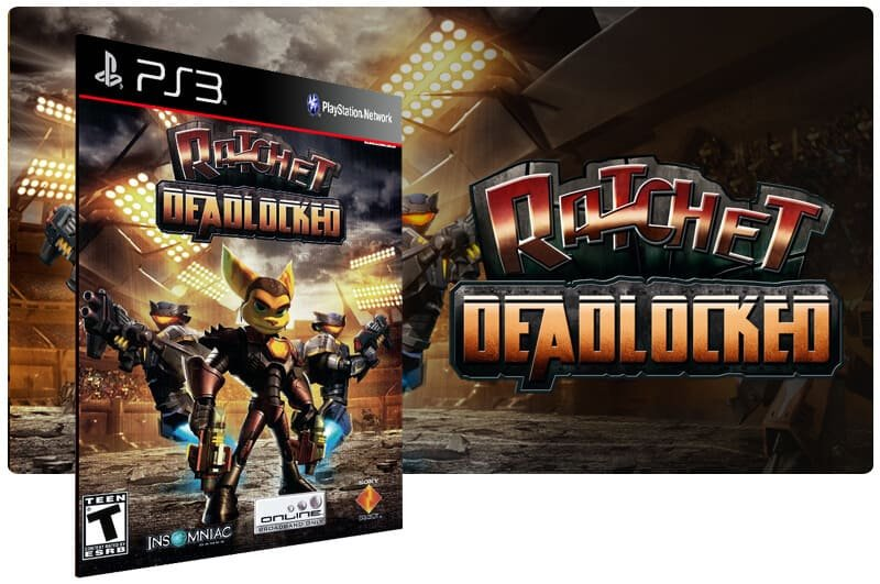 Banner do game Ratchet Deadlocked para PS3