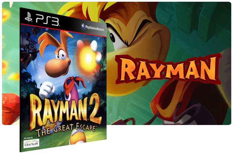 Banner do game Rayman 2 The Great Escape (Psone Classic) para PS3