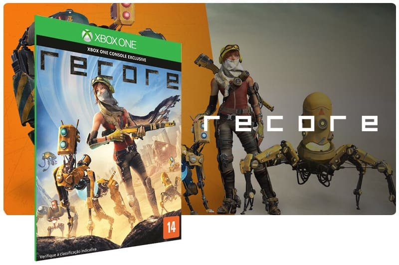 Banner do game Recore em mídia digital para Xbox One