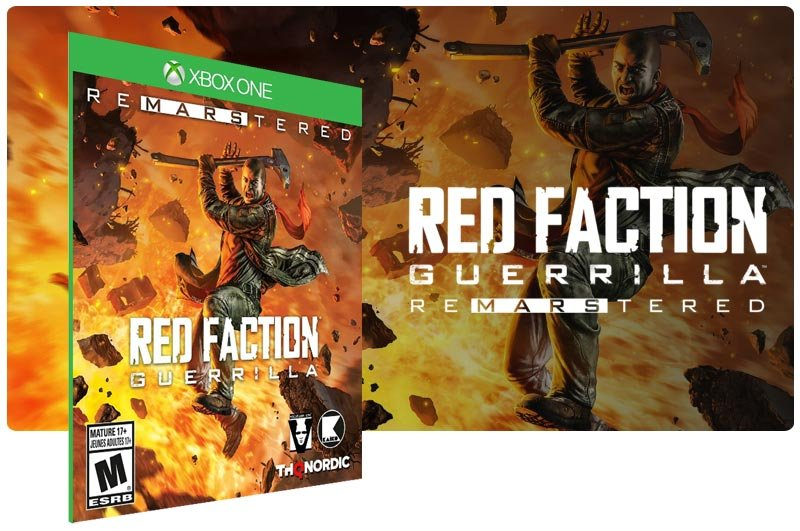 Banner do game Red Faction Guerilla Re-Mars-tered em mídia digital para Xbox One