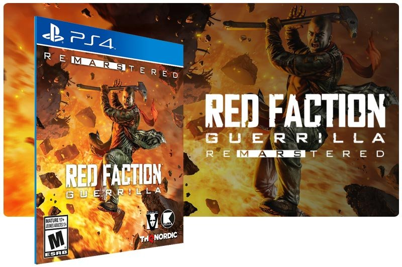 Banner do game Red Faction Guerrilla Re-Mars-tered para PS4