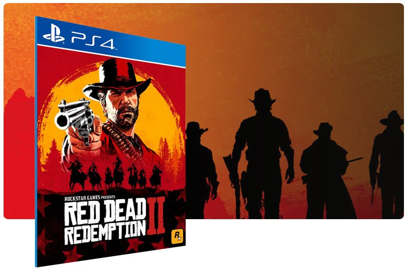 Banner do game Red Dead Redemption 2 em mídia digital para PS4
