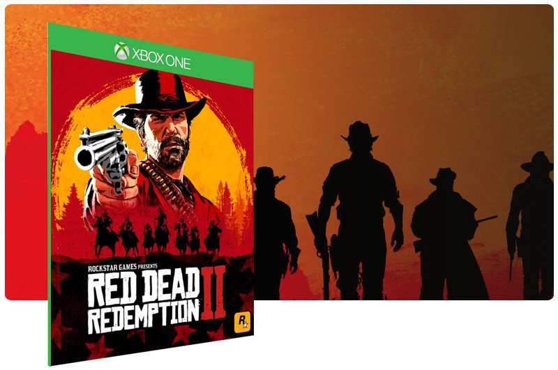 Banner do game Red Dead Redemption 2 em mídia digital para Xbox One