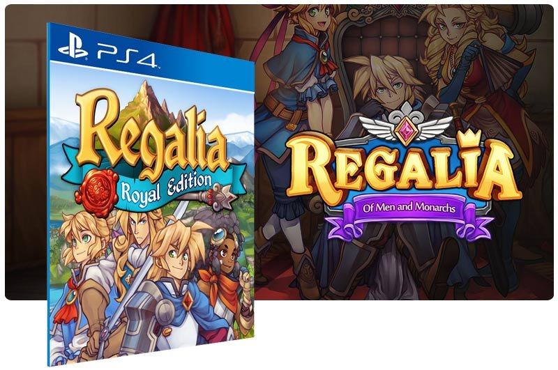 Banner do game Regalia Of Men and Monarchs Royal Edition em mídia digital para PS4