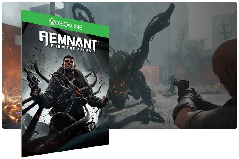 Banner do game Remnant: From the Ashes em mídia digital para Xbox One