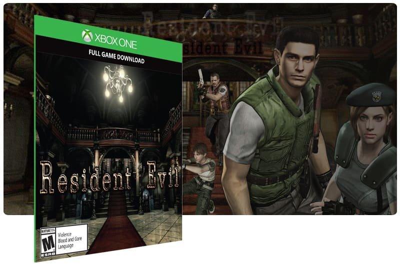 Banner do game Resident Evil em mídia digital para Xbox One