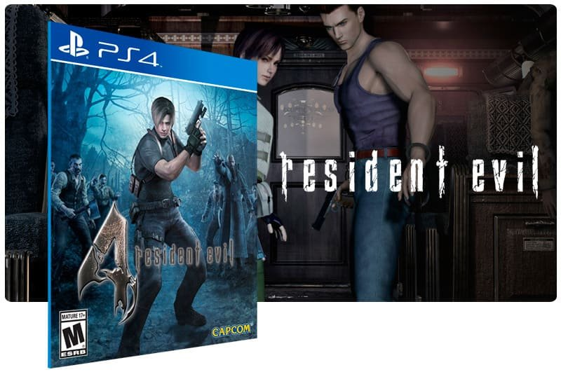 Banner do game Resident Evil 4 para PS4