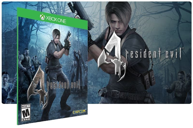 Banner do game Resident Evil 4 em mídia digital para Xbox One