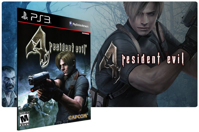 Banner do game Resident Evil 4 HD para PS3