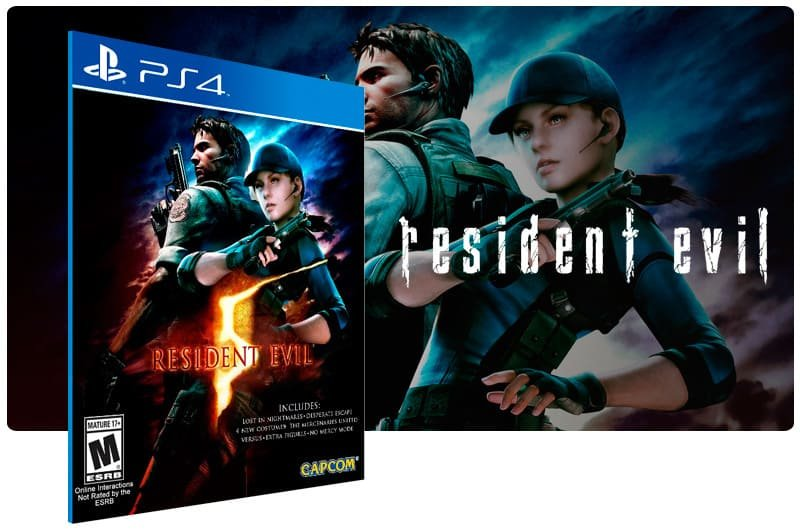 Banner do game Resident Evil 5 para PS4