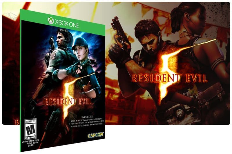 Banner do game Resident Evil 5 em mídia digital para Xbox One