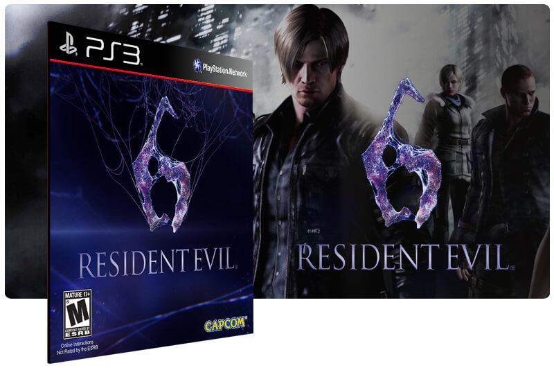 Banner do game Resident Evil 6 para PS3