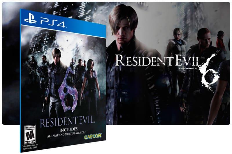 Banner do game Resident Evil 6 para PS4