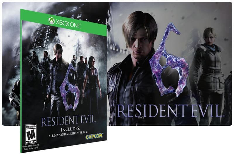 Banner do game Resident Evil 6 em mídia digital para Xbox One