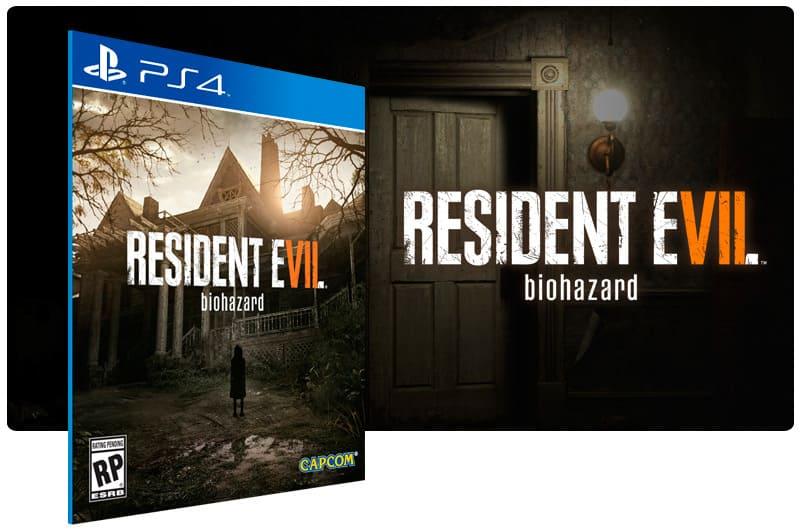 Banner do game Resident Evil 7 Biohazard para PS4