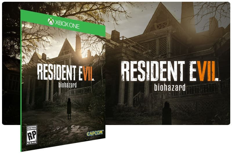 Banner do game Resident Evil 7: Biohazard em mídia digital para Xbox One