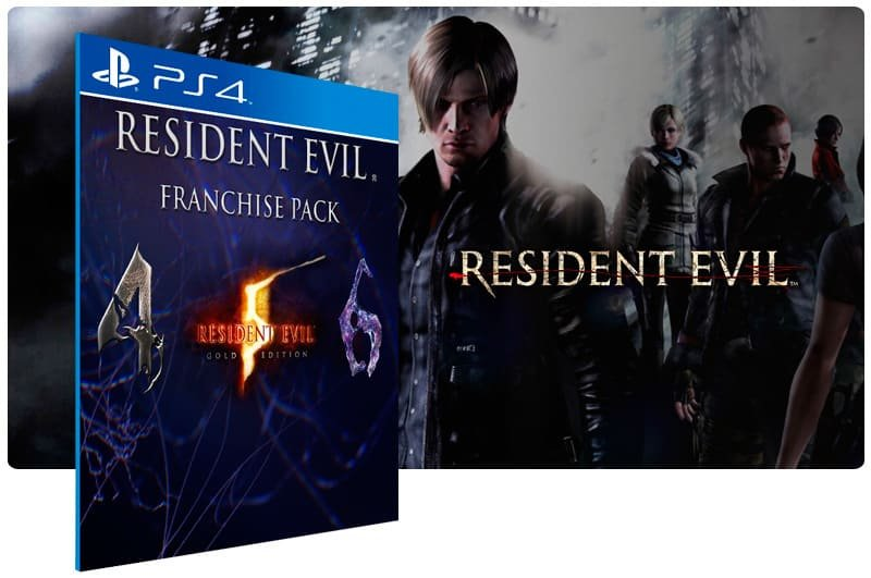 Banner do game Resident Evil Triple Pack para PS4