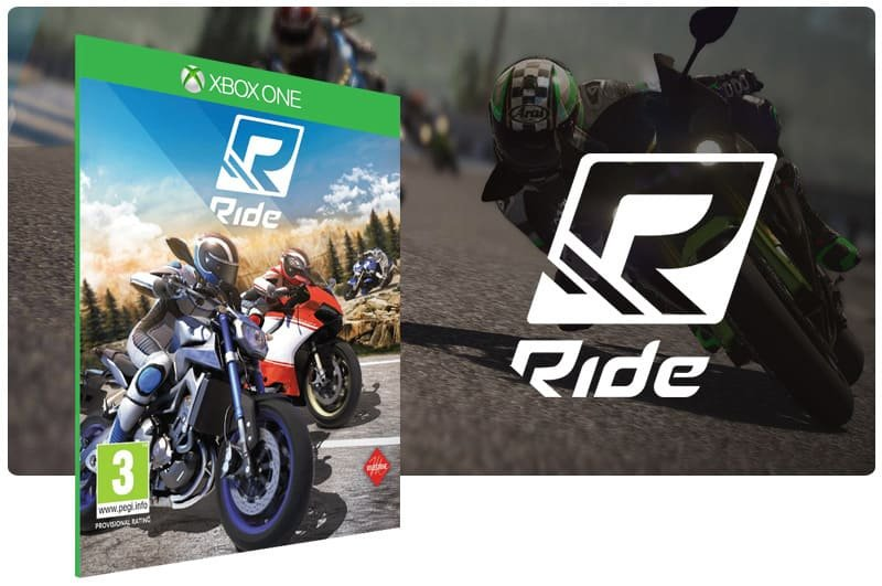Banner do game Ride em mídia digital para Xbox One