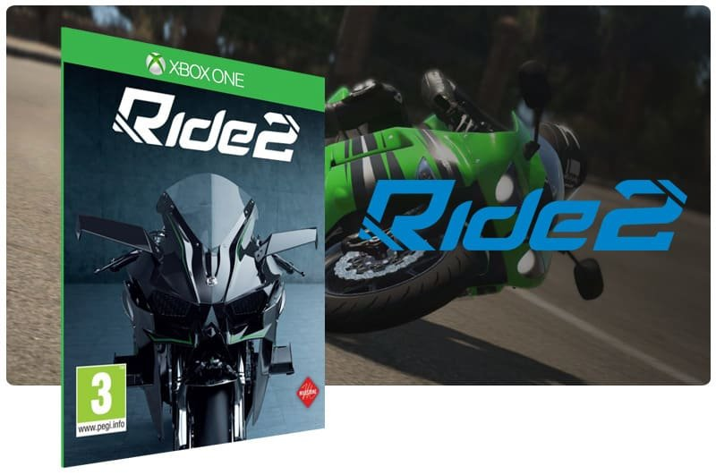 Banner do game Ride 2 em mídia digital para Xbox One