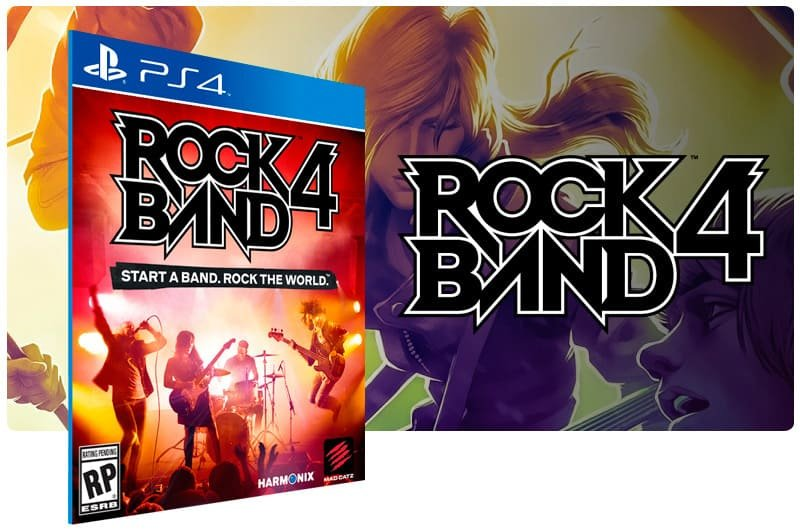 Banner do game Rock Band 4 para PS4