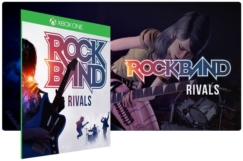 Banner do game Rock Band 4 Rivals Bundle em mídia digital para Xbox One