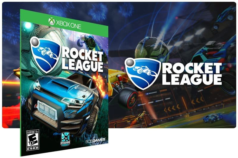 Banner do game Rocket League em mídia digital para Xbox One