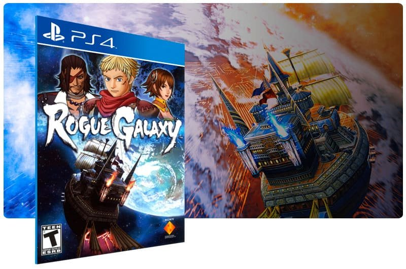 Banner do game Rogue Galaxy para PS4