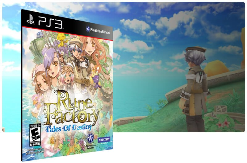 Banner do game Rune Factory: Tides Of Destiny para PS3
