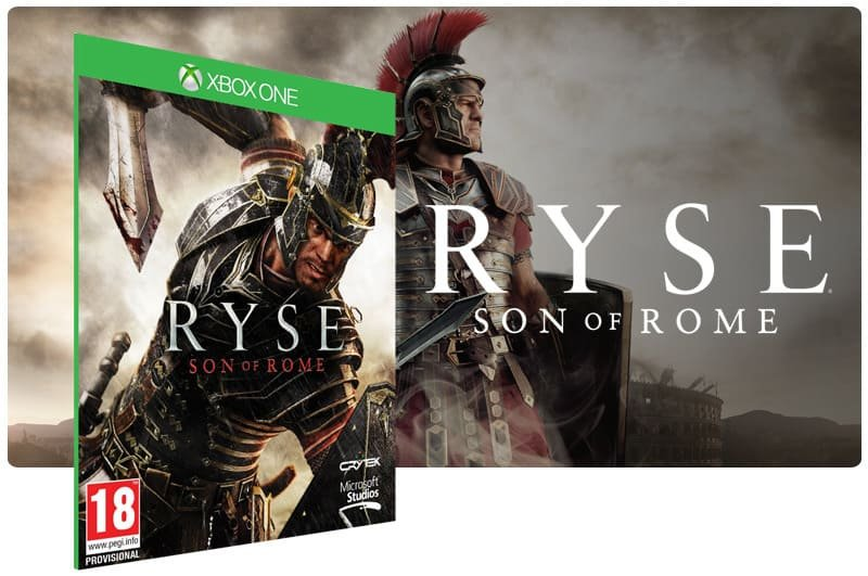 Banner do game Ryse: Son of Rome em mídia digital para Xbox One