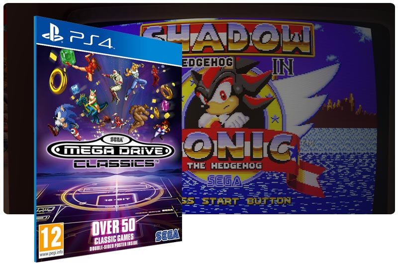 Banner do game SEGA Genesis Classics em mídia digital para PS4