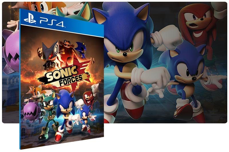 Banner do game SONIC FORCES Digital Bonus Edition para PS4