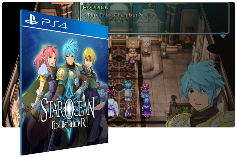 Banner do game STAR OCEAN First Departure R em mídia digital para PS4
