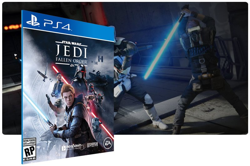 Banner do game STAR WARS Jedi: Fallen Order para PS4