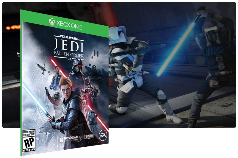 Banner do game STAR WARS Jedi Fallen Order em mídia digital para Xbox One