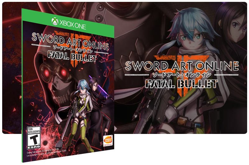 Banner do game Sword Art Online: Fatal Bullet em mídia digital para Xbox One
