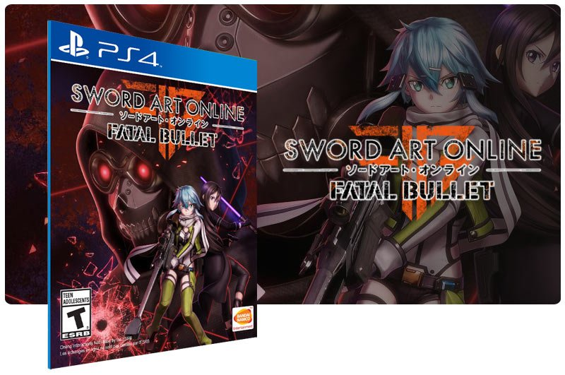 Banner do game Sword Art Online Fatal Bullet em mídia digital para PS4