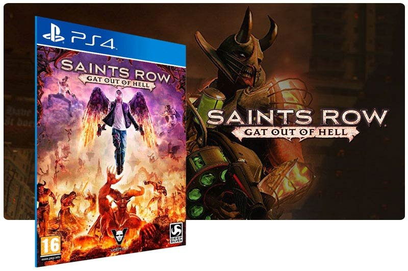 Banner do game Saints Row Gat Out Of Hell para PS4