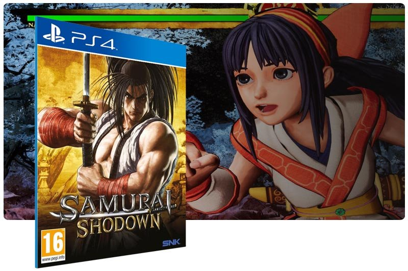 Banner do game Samurai Shodown para PS4